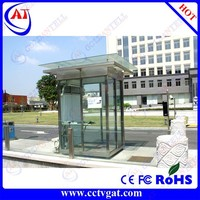 Low cost sentry box, stainless steel movable guard house, prefabricated security container
