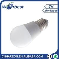 6Pcs 5W LED Light Bulb E27 E26 Screw Base 6000K Cool White 400lm
