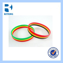 special size 6mm debossed silicone wristband for promotion