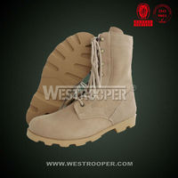 Rubber outsole cow suede army shoes