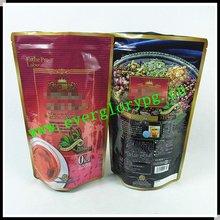 ISO14001 Eco-friendly Flat Bottom Gusset Ziplock Coffee Bags