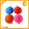 Food Grade BPA Free Pet Dog Cat Silicone Bowl Expandable Foldable Pet Water Food Bowl