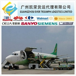 Door to door air freight service from China to New Delhi, India