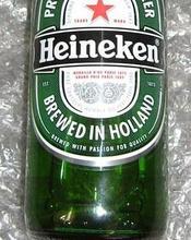 Green Bottle / Can Heinekens Beer
