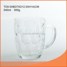 Newest promotional 540ml glass beer bottle with swing top