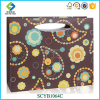 China Style Luxury Series Custom-made Brown Paper Shopping Bag With Logo Print