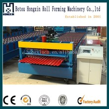 Automatic color steel roof tile corrugated sheet metal rolling machinery for Canton Fair