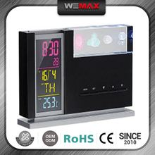 Good Price High Quality Oem Design Custom Logo Temperature & Calendar Display Projector Alarm Clock