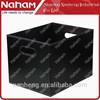 NAHAM large Rectangular Leather Storage Tote Gift/Sundries Basket