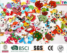 Beautiful Painted animals Wood Buttons diy crafts