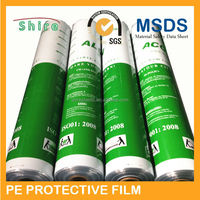 dark blue pe protective film for 304 stainless steel panel/blue film for stainless steel/adheisve blue protective film