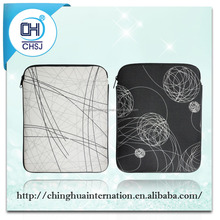 Hot sale printing pu leather sleeve for tablet with ziplper from Alibaba factory