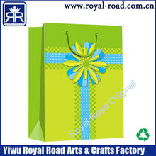 Sun flower printing paper gift bag charming holiday shopping paper bag