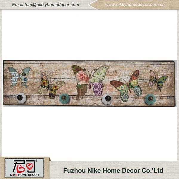 Papel de impressão do projeto da borboleta de madeira placa de parede