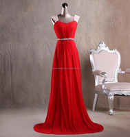 Pearl cap sleeve ruched floor length cheap 2015 real sample red formal evening gowns CWFacc2011