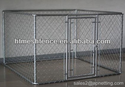 Chain link mesh dog kennel cage