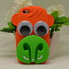 Cute 3D Silicon Animal silicon case with earphone holder