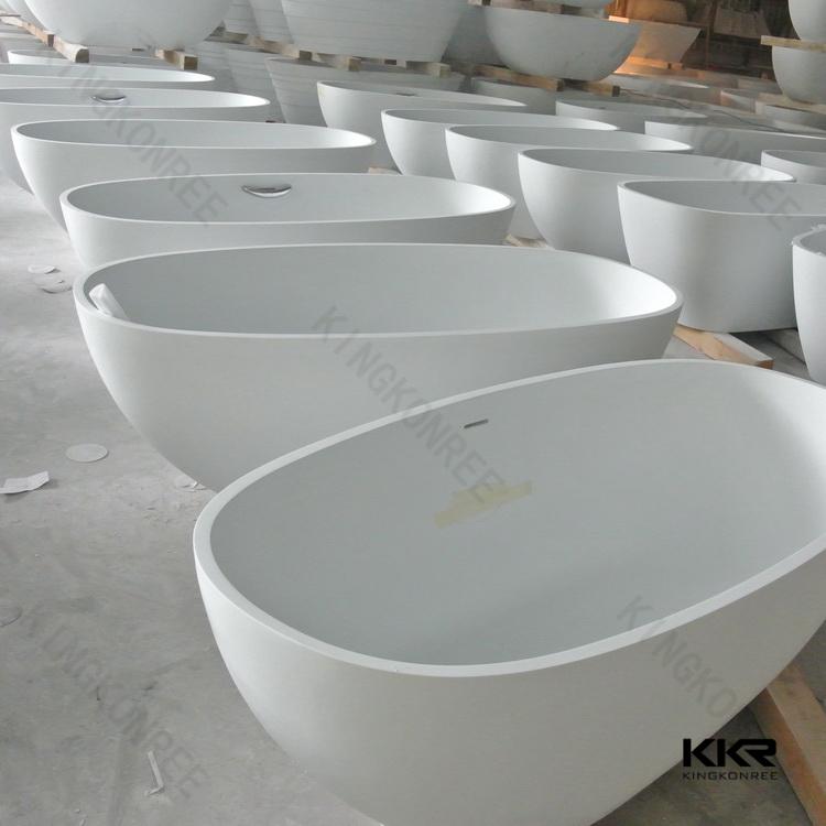 Kingkonree Modern Bath Tub Freestanding Bath Solid Surface