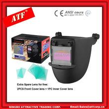 CE,ANSI, CSA standard Flip up big viewing Auto darkening Welding mask easy fix to Safety helmet