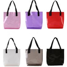 SIZE 25*16.5*15cm pillow shape clear pvc beach zippered handbag(SD-BB-001)