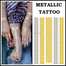 Wholesales custom waterproof metallic flash golden tattoos sticker temporary tattoo power supply