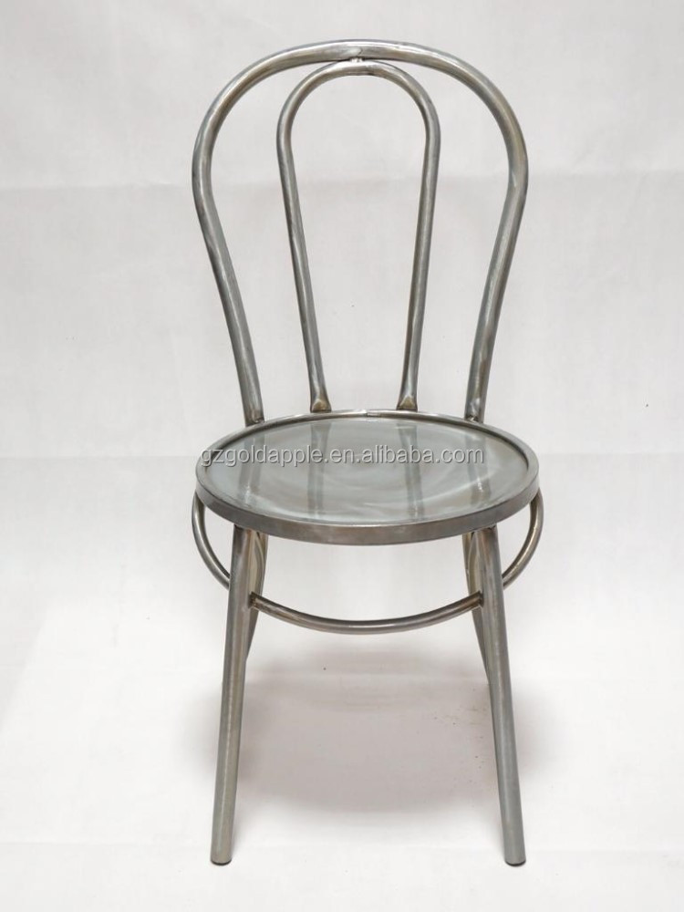 Metalic galvanized dining chair for sale buy dining for Designer dining chairs sale