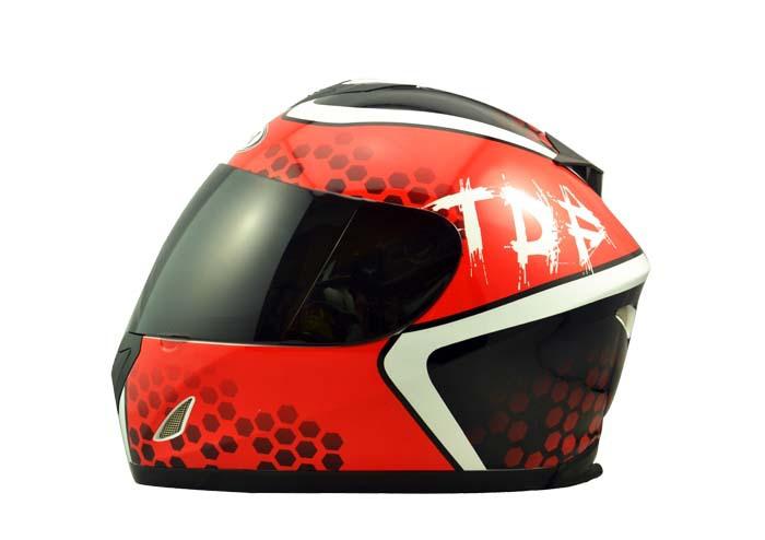 2015 red black ABS Adult men's Dot full face motorcycle helmet