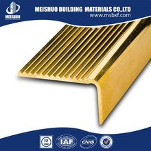 Brass metal stair tread covers for interior and exterior stairs