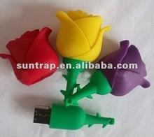 new design beautiful flower usb flash memory