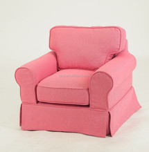 pink color kid's sofa furniture beech wood baby chair /baby single sofa(KS-46-1)
