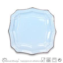 2015 new modern ceramic polygon dinner plate