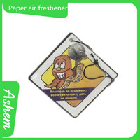 hot sell car perfume items paper car fragrance air refreshers with customized design, DL262