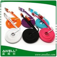 wholesale mutiple designs flat mirco usb cable