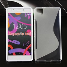 Premium Felxible and durable BQ Aquaris M5 case cover clear rubber silicon skin tpu gel cover