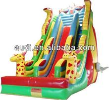 Giraffe And Spiderman Inflatable Slide
