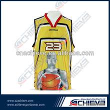 Professional basketball jersey design