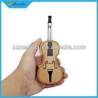 Shenzhen e cigarette new ecig violin shape wooden ecig popular in spain e cigarette