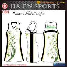 Custom cheap Australia team cub netball jerseys, girl's sublimation professional netball dress