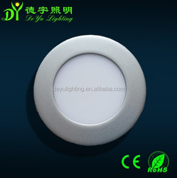Alibaba express ultra thin round led panel light silver housing ceiling panel light with 3 years warranty