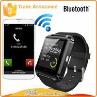 Trade assurance alipy support Factory Wholesale Smart Bluetooth Watch WristWatch U8 for iphone bluetooth watch