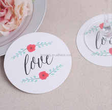 love cicle paper coaster table decoration