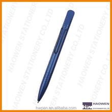 Spring clip metal ballpoint pen