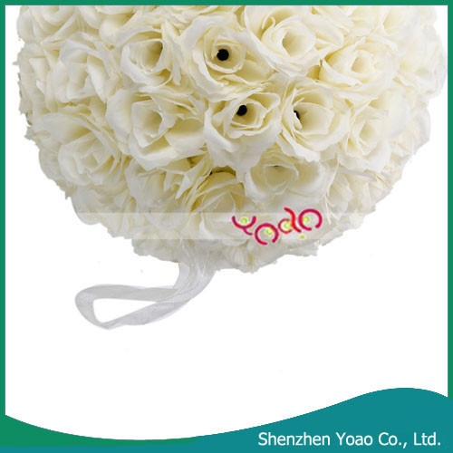 Hot vente artificielle ivoire blanc fleur de mariage Balls