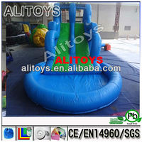 Blue color best quality inflatable water slide, water slide inflatable ,inflatable pool slide