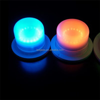 Coolqing Rechargeable RGB Led Bulb Kit For Led Furniture Light Led Battery lamp for wedding and event size:10.2CM