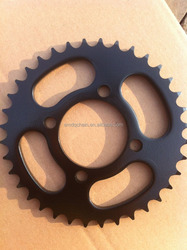 Pakistan motorcycle chain and sprocket kit CD70, 70-100cc motorcycle BLACK