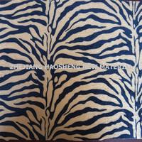 "Zebra Print Crushed Panne Velvet Black & Brown 60"" Wide Poly Fabri Decor Fabric"