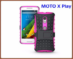 Factory competitive price wholesale tpu pc colorful design mobile phoen case for Moto X Play