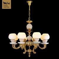 Decorative Hotels 8 Lights Bronze Spanish Alabaster antler chandelier