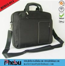 Soft Side Padded 14 Laptop Computer Brief Case - Black(LAP15-014)